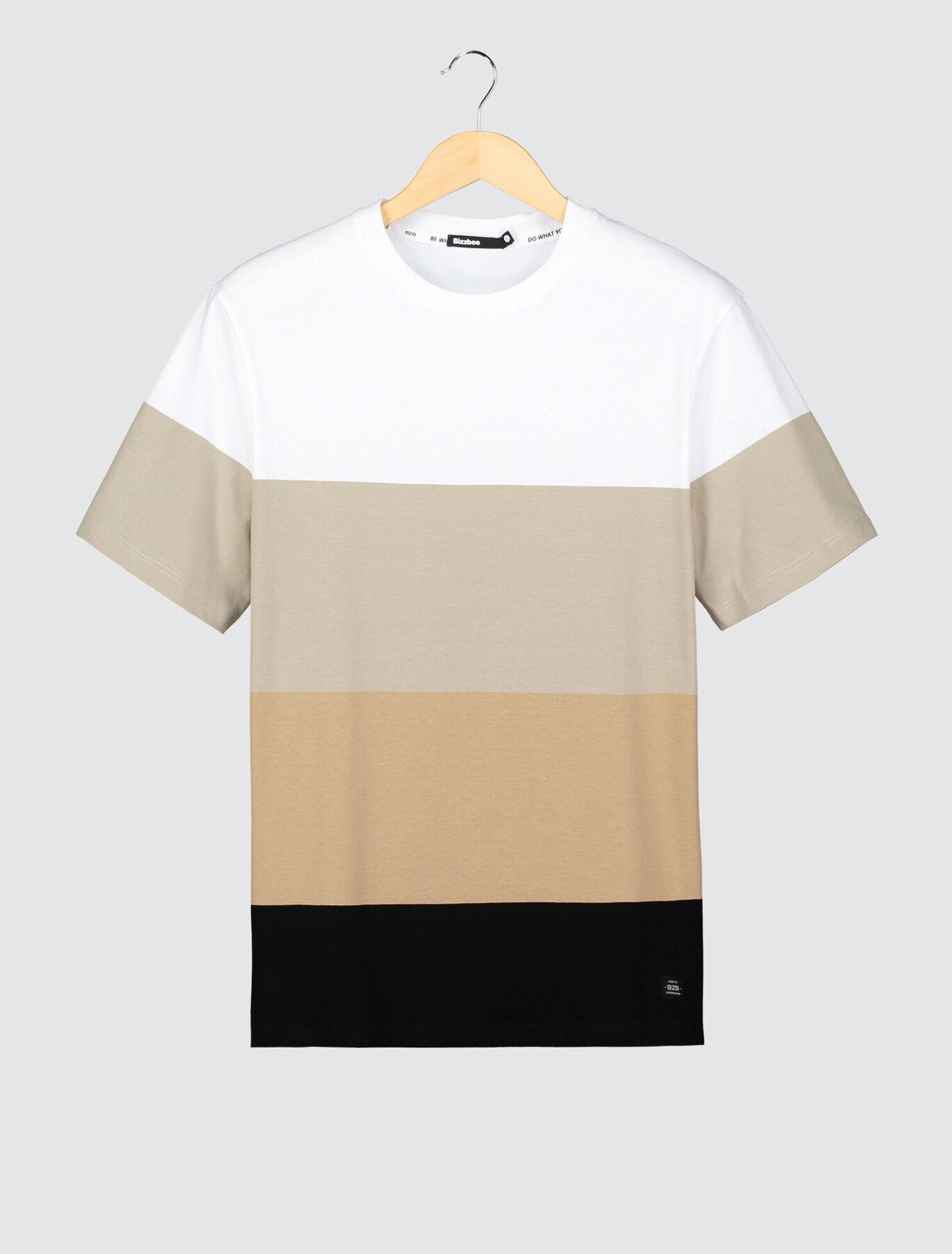 T-shirt colorblock en coton BIO