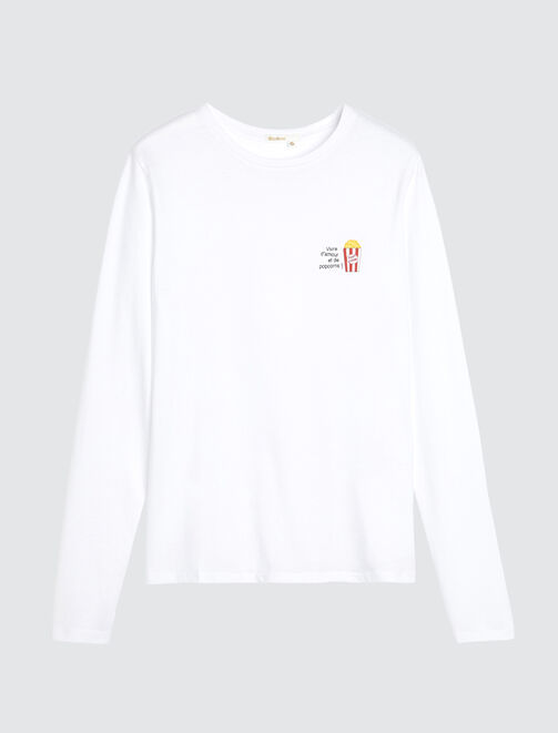 Tee Shirt Pyjama Pop Corn femme