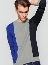 Pull colorblock bandes verticales