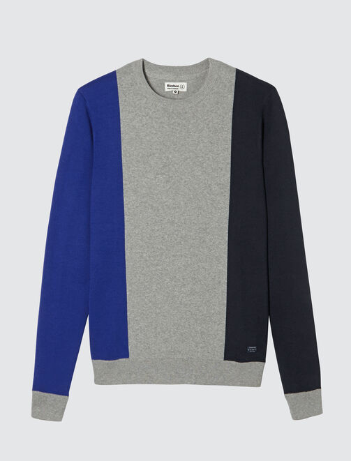 Pull colorblock bandes verticales homme