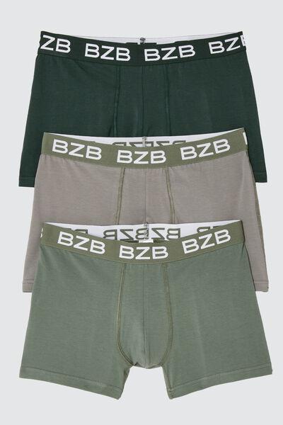 Boxers Unis Vert en coton bio issu de l'agricultur