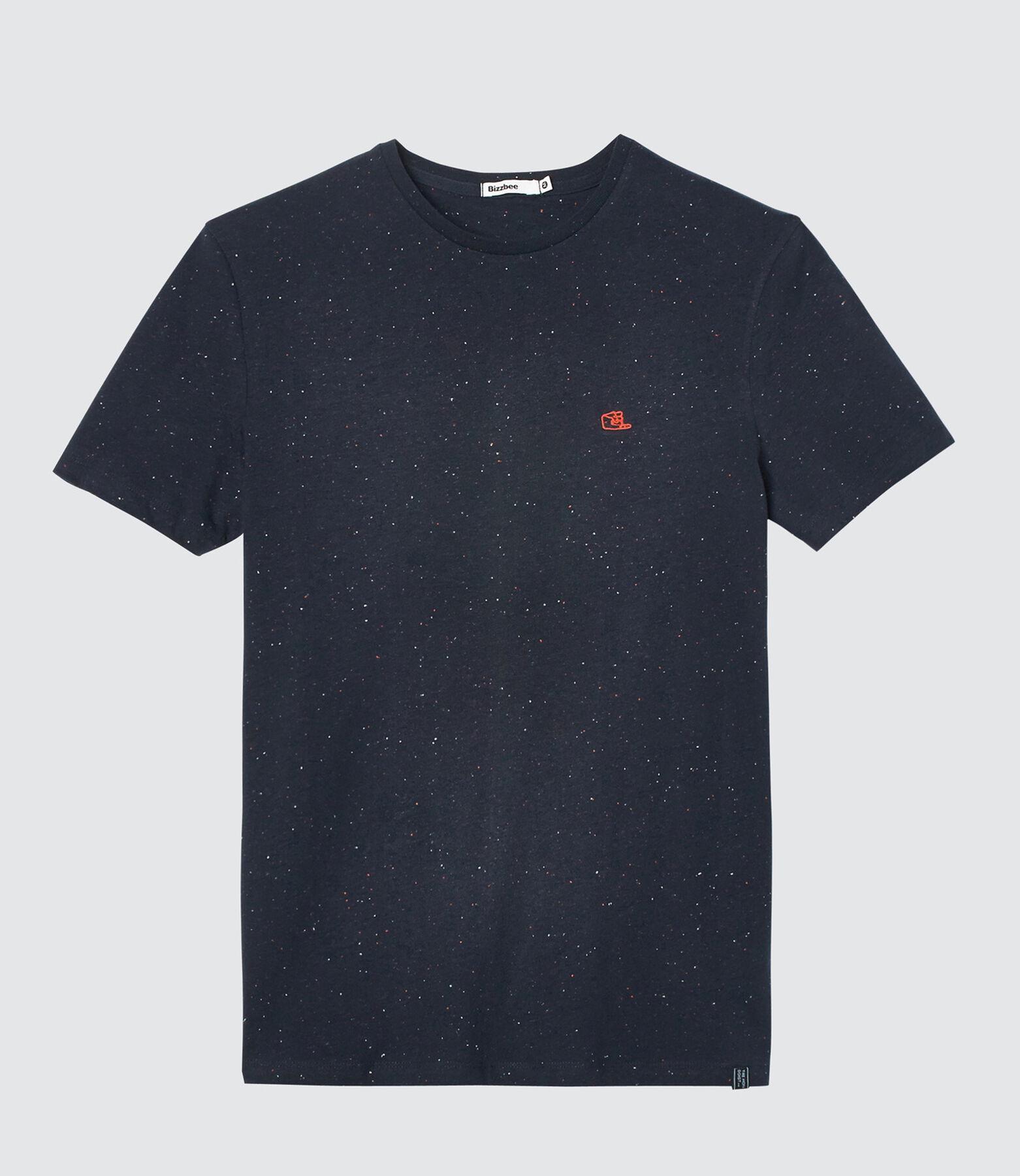 T-shirt matière fantaisie patch print poitrine