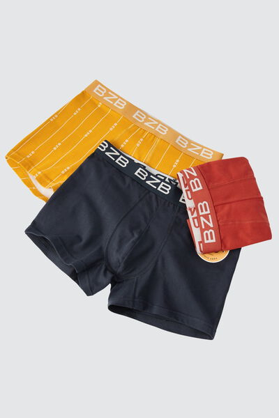 Boxers unis colorés Lot*3
