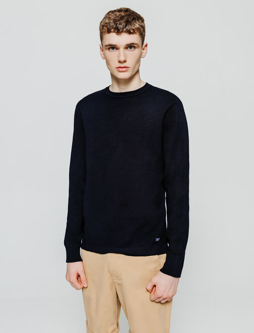 Pull col rond milano uni homme