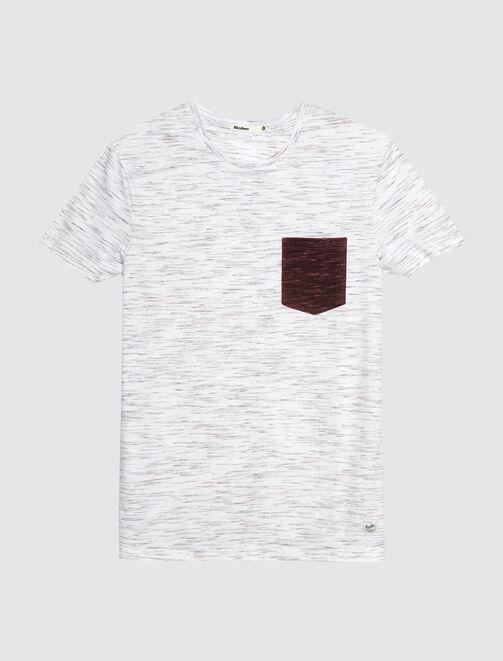 T-shirt injecté poche poitrine homme