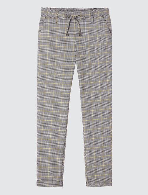 Pantalon à carreaux femme