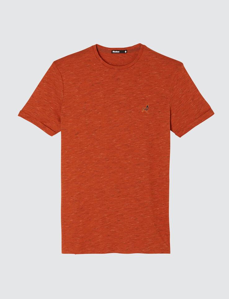 T-shirt manches courtes injecté avec broderie poit