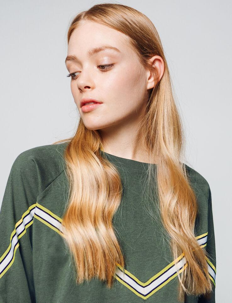 T-shirt manches longues avec bandes rayées
