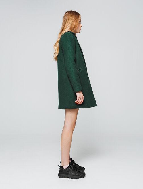 manteau lainage chaud femme