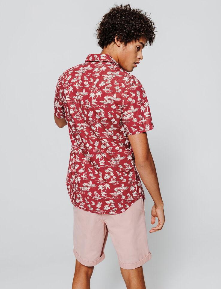 Chemise manches courtes imprimée Hawai