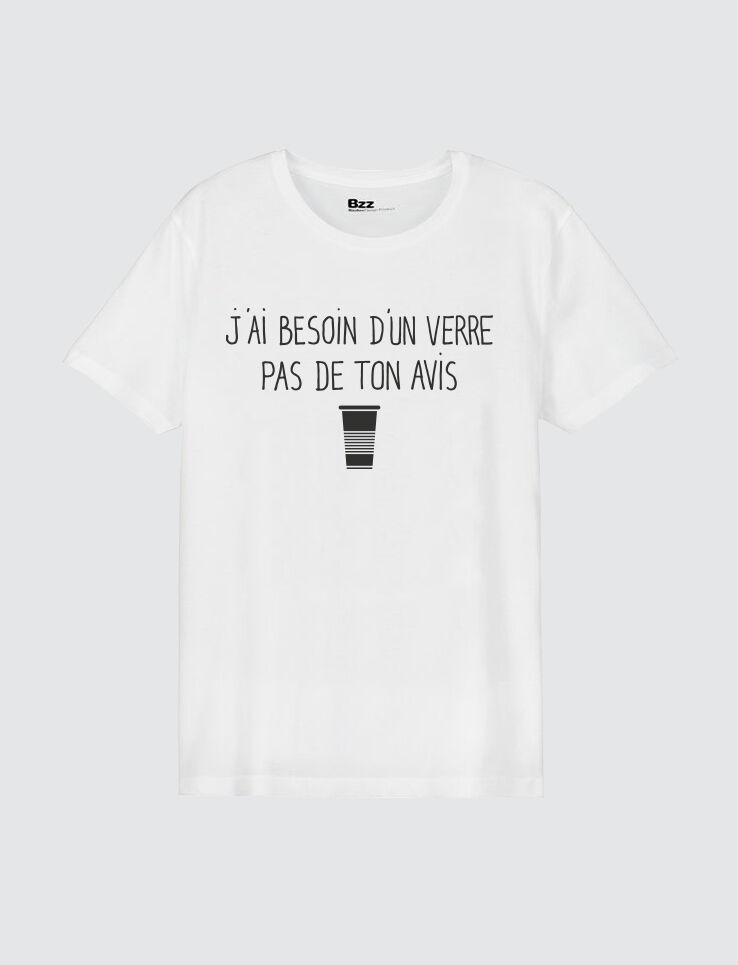 "T-shirt message ""J'ai besoin d'un verre"""