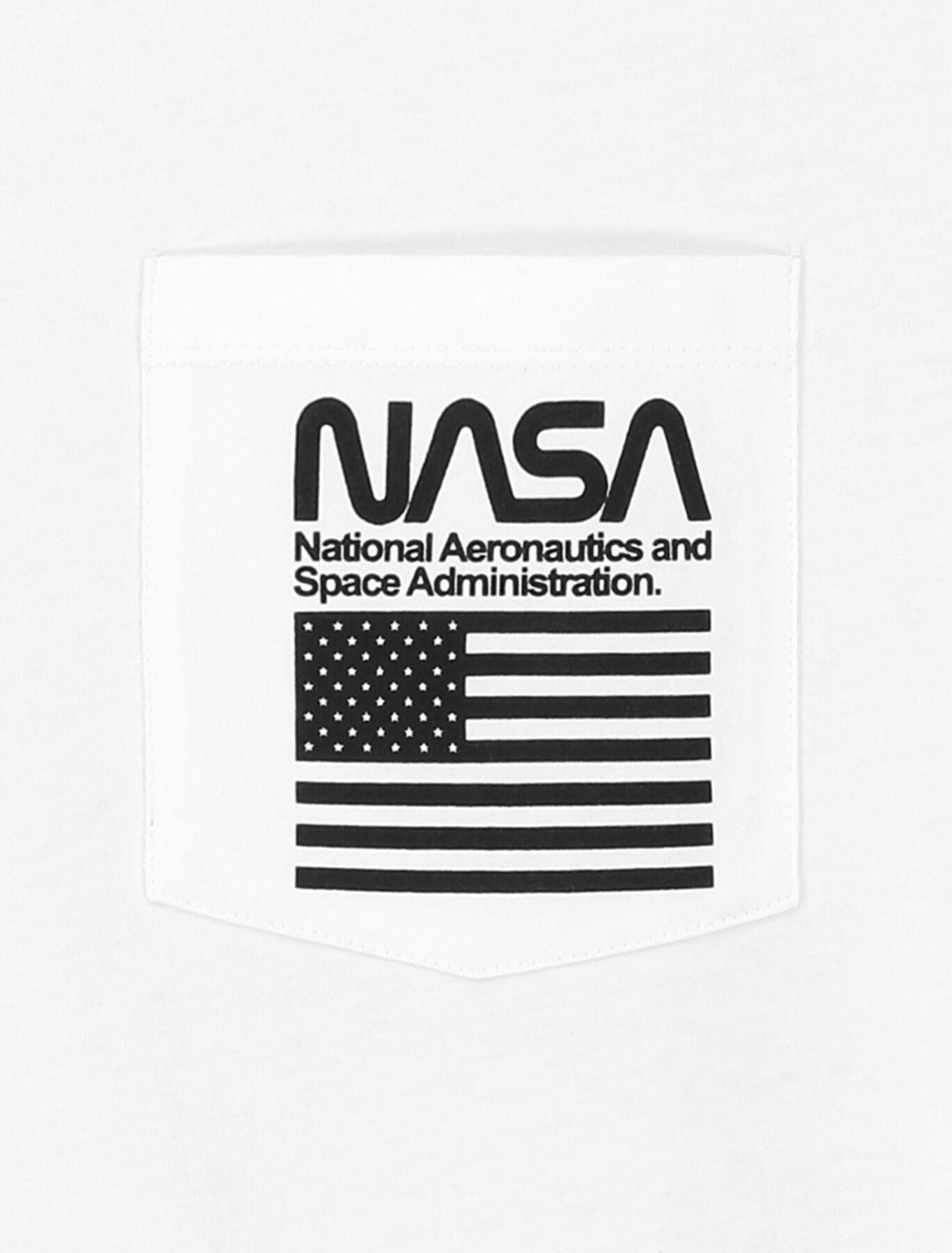 T-shirt avec poche imprimée NASA