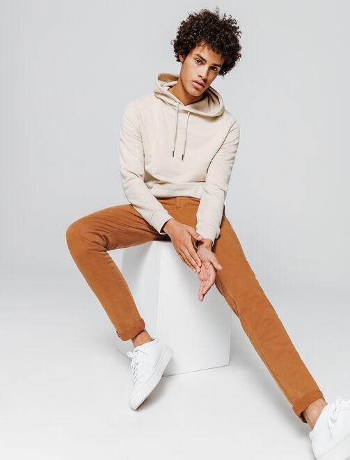 Chino basique en coton homme