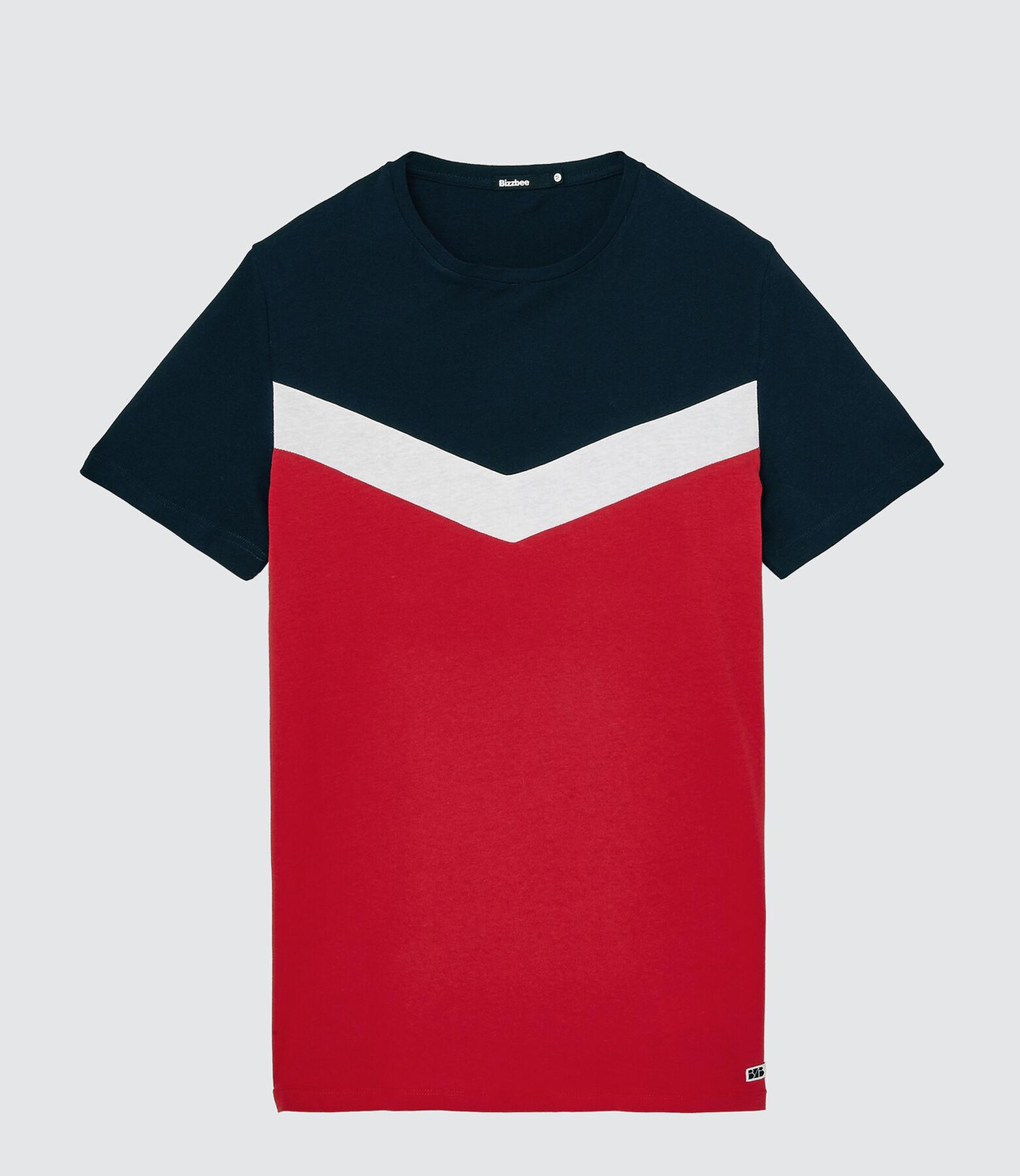 T-shirt coloblock forme V