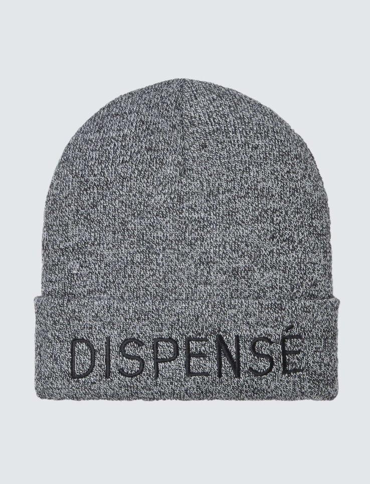"""Bonnet Message """"Dispensé"""""""