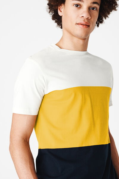 T-shirt colorblock en coton BIO