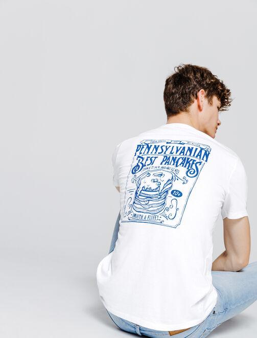 T-shirt animation Junkfood devant&dos homme