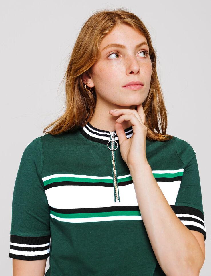 T-shirt cycliste zippé
