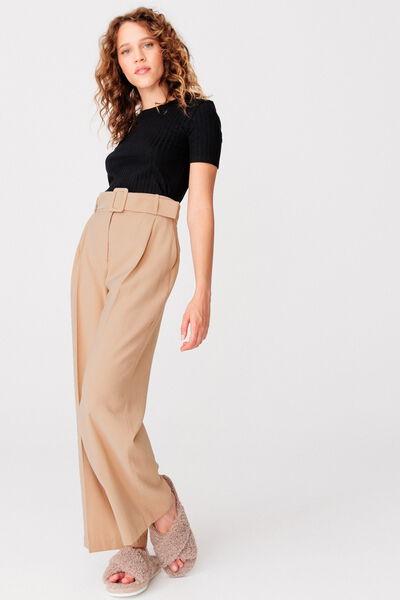 Pantalon Large Ceinturée