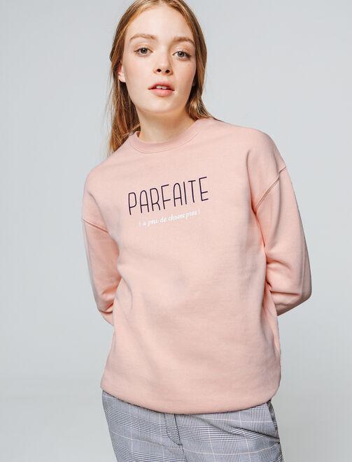 """Sweat message """"Parfaite"""" femme"""
