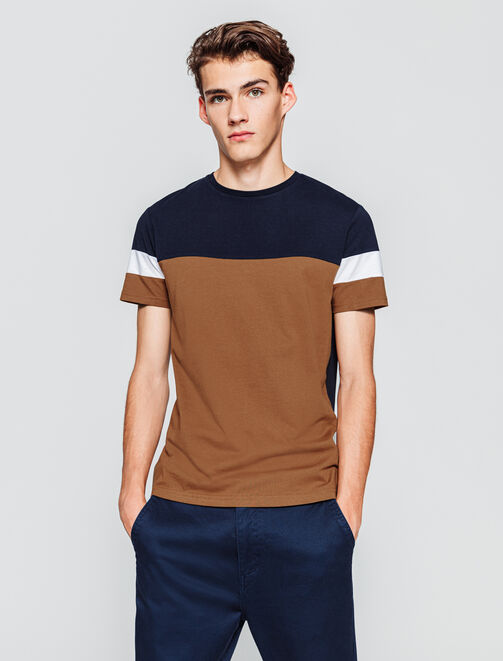 T-shirt colorblock homme