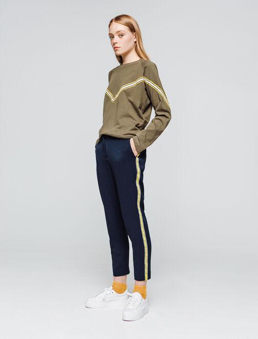 Pantalon à bandes femme