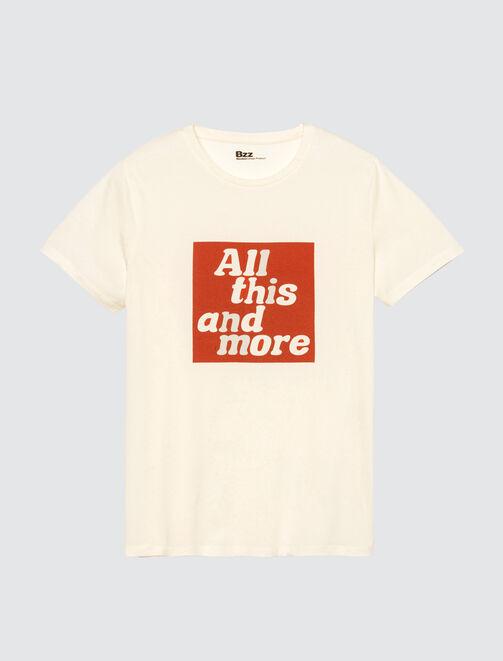 T-shirt à message homme