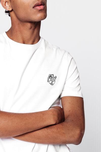 "T-shirt brodé ""coeurnade"" en coton bio"