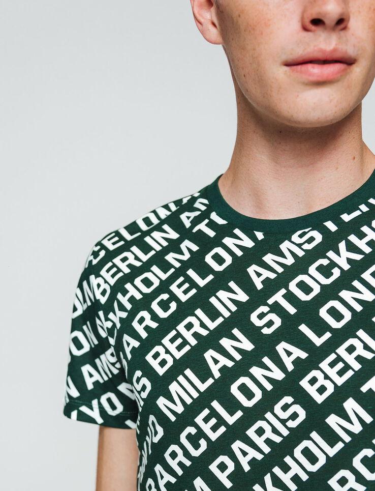T-shirt imprimé message répétitif ville