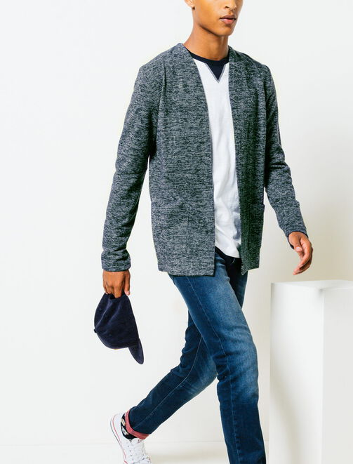 Cardigan long ouvert homme