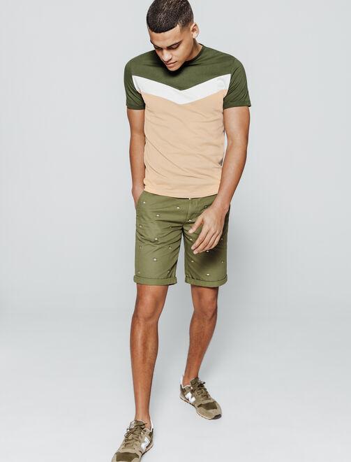 T-shirt colorblock V  homme