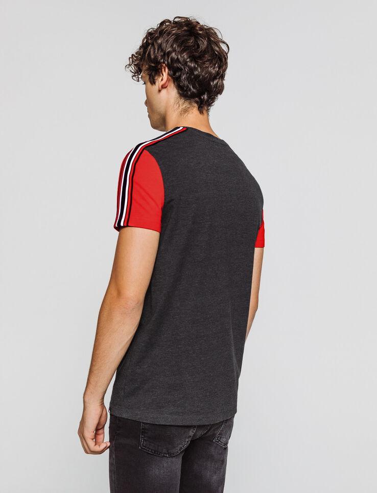 T-shirt colorblock manches contrastantes