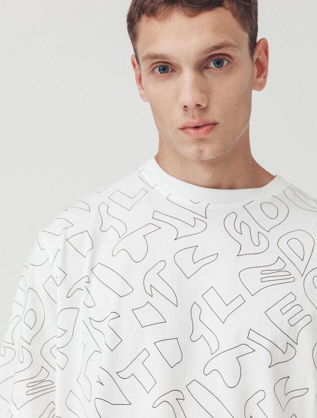 T-shirt imprimé répétition
