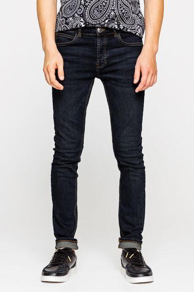 Jean skinny basique rinse blue en coton recyclé