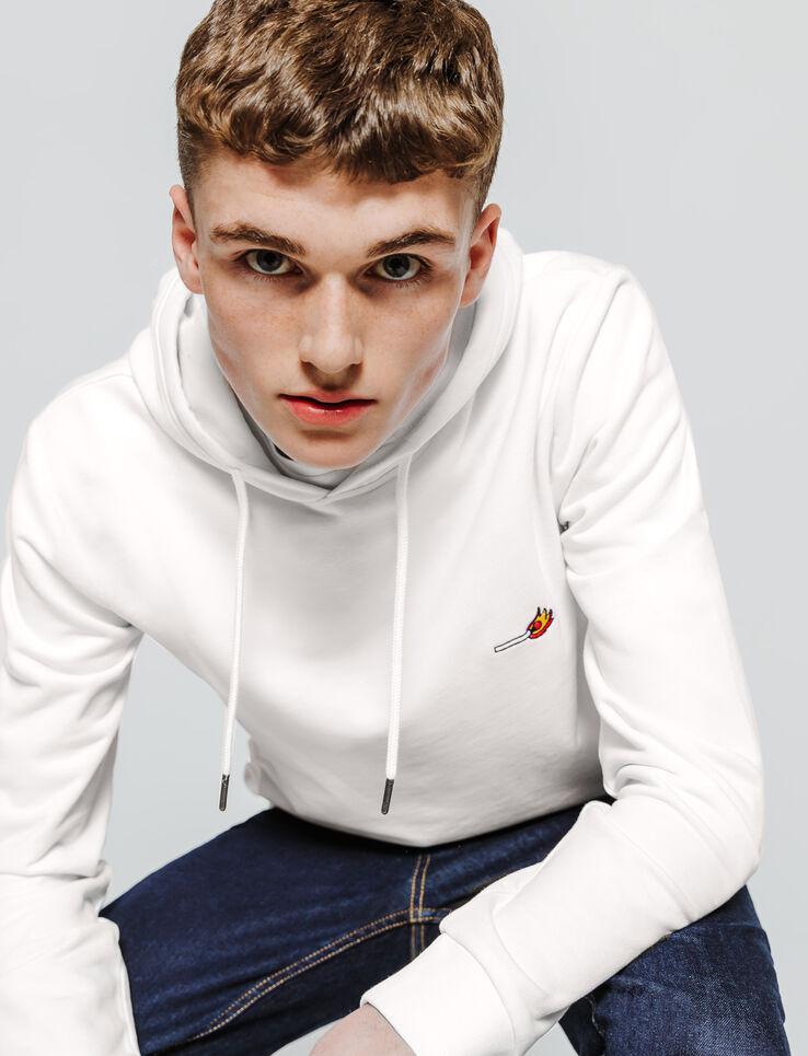 Sweatshirt col rond brodé
