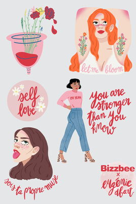 Stickers Bizzbee x Eugenie Dbart