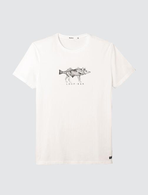 T-shirt message Loup-Bar homme