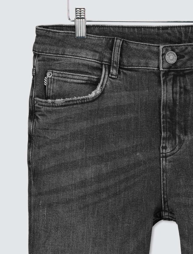 Slim tapered noir en coton recyclé