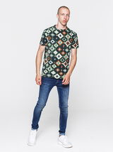 T-shirt imprimé azteque