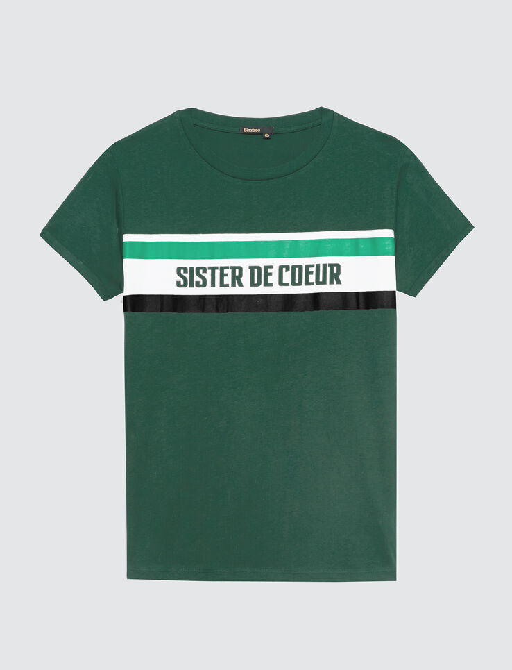 "T-shirt à message "" Sister de cœur"""