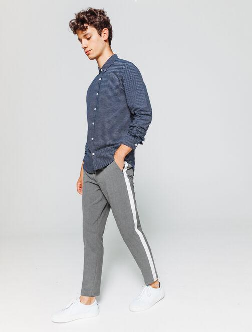 pantalon à bandes homme