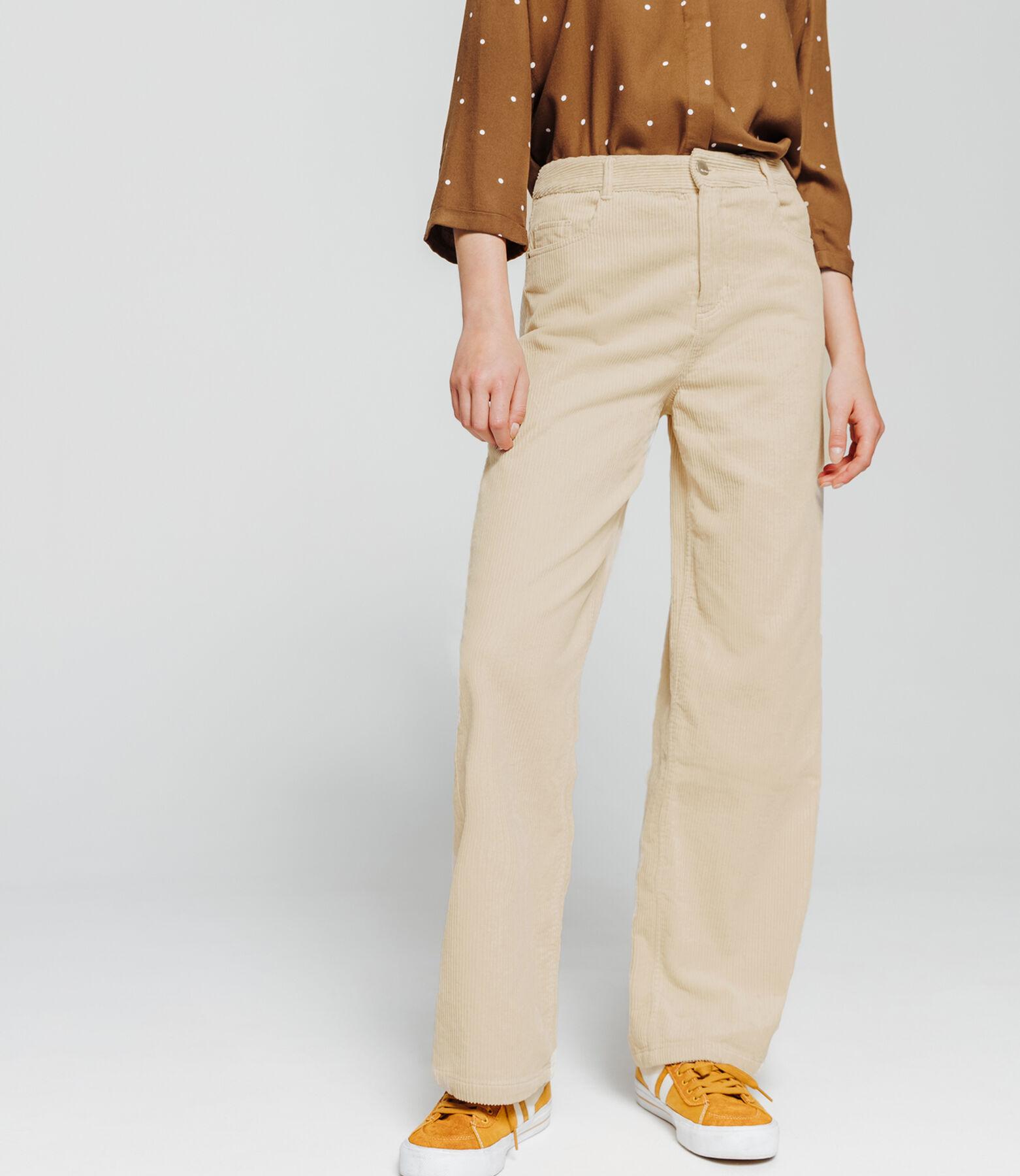 Pantalon fluide large velours