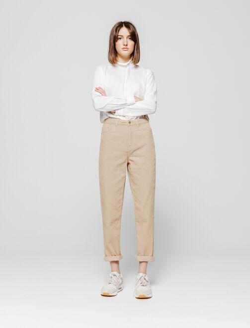 Pantalon MOM velours côtelé femme