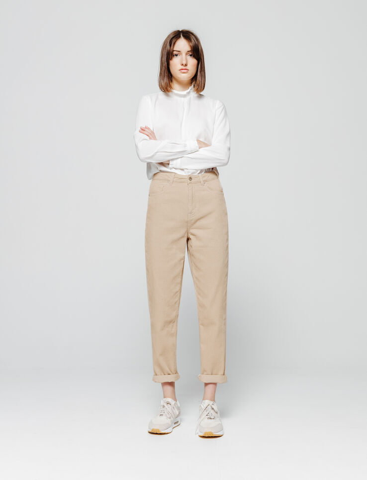 Pantalon MOM velours côtelé