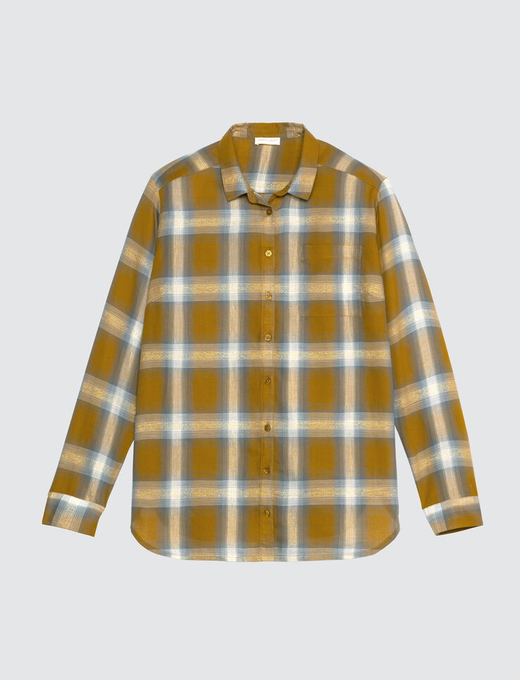Chemise fluide à carreaux