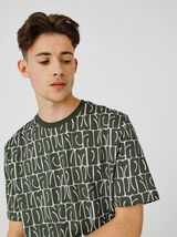 T-shirt imprimé à répétition