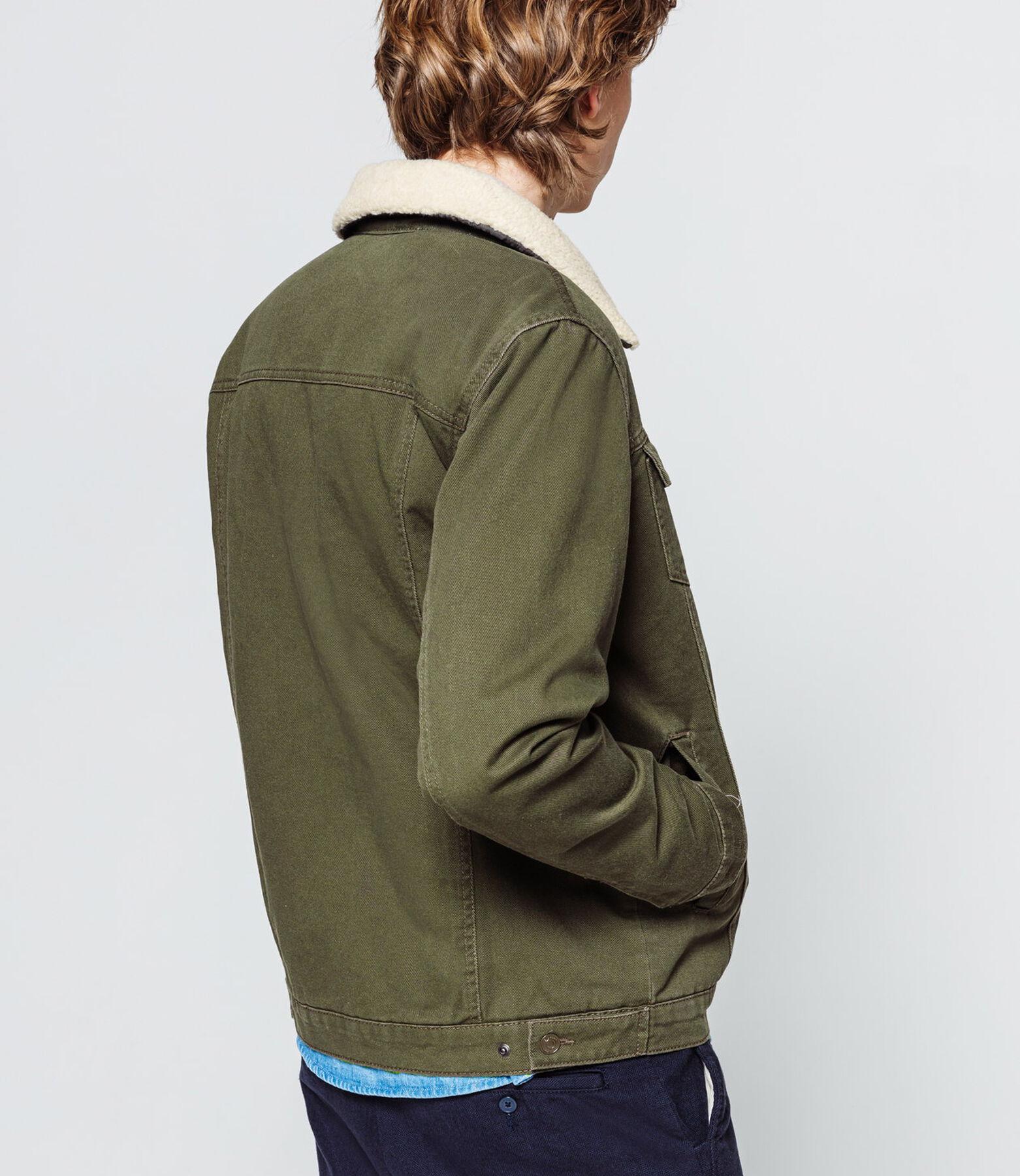 Veste couleur col sherpa amovible