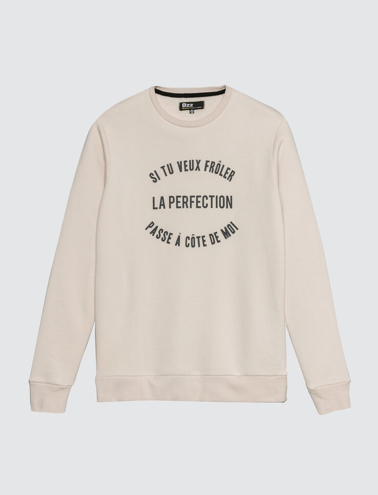 "Sweat à message ""Frôler la perfection"""