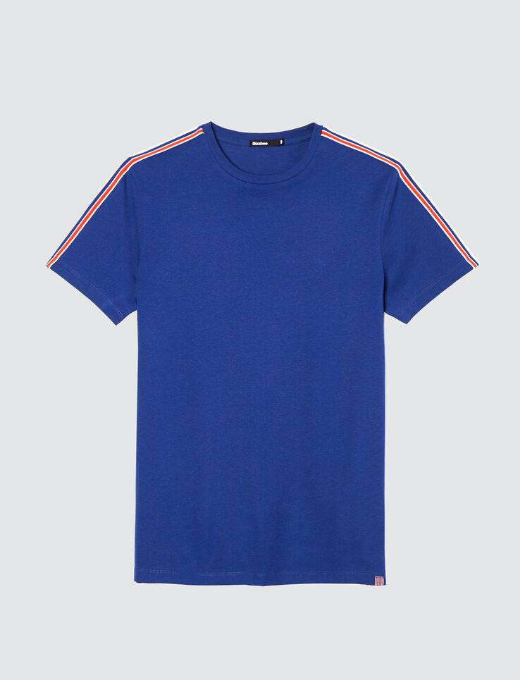 T-shirt bandes placées manches