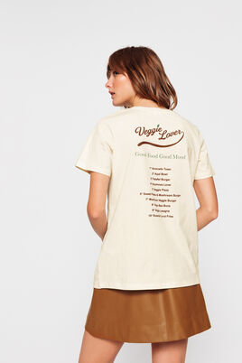 T-shirt en coton bio message Veggie Lover
